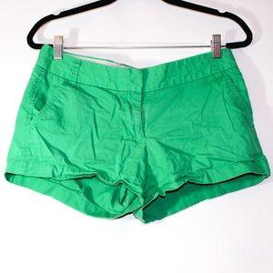 J. Crew chino broken-in 100% cotton green shorts
